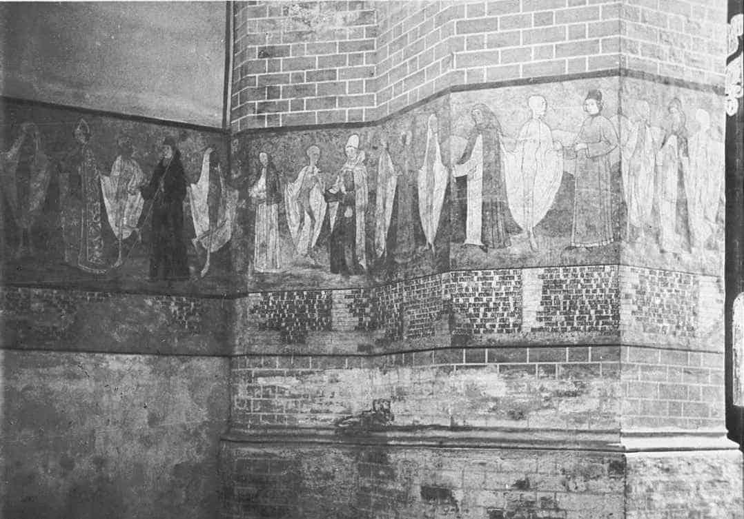 Фреска Танец смерти в церкви Святой Марии фото 1936 г.