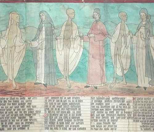 Репродукция фрески Танец смерти в церкви Святой Марии