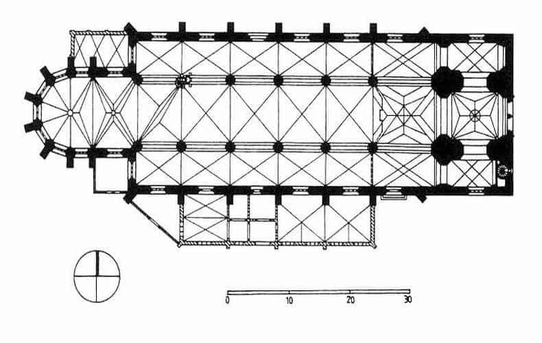 План церкви Мариенкирхе