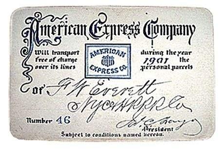 Первая карта Американ экспресс