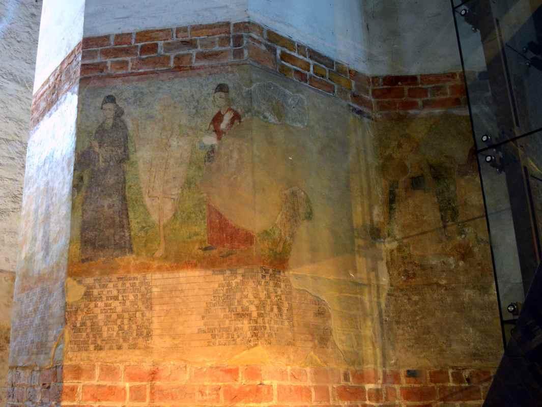Фреска Танец смерти в церкви Святой Марии