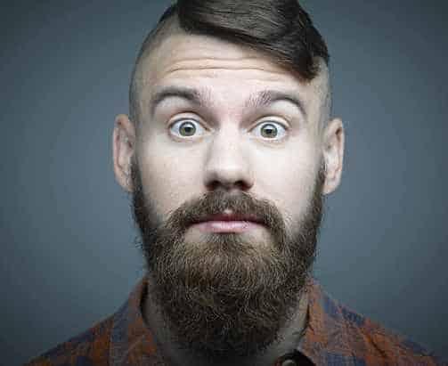 Мужик с стриженой бородой