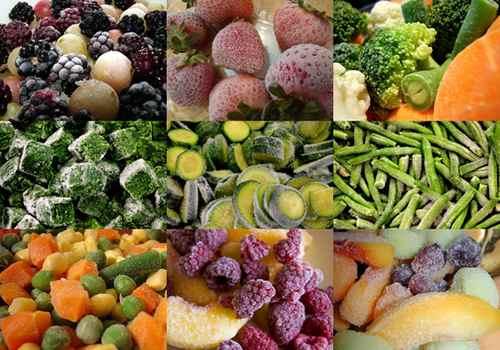 Мороженые овощи и фрукты