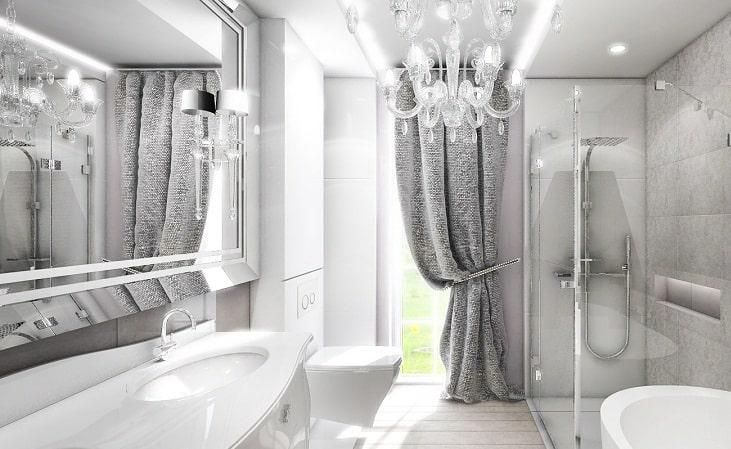 Современный французский интерьер в ванной