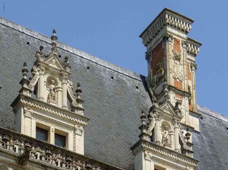 Замок Блуа, крыши