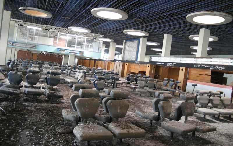 Аэропорт в Никосии изнутри