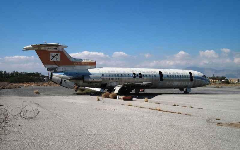Hawker-Siddeley Trident оставили на взлетной полосе