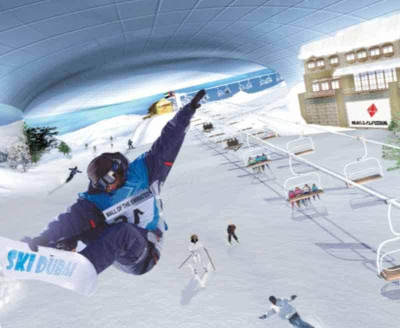 Искусственный лыжный склон