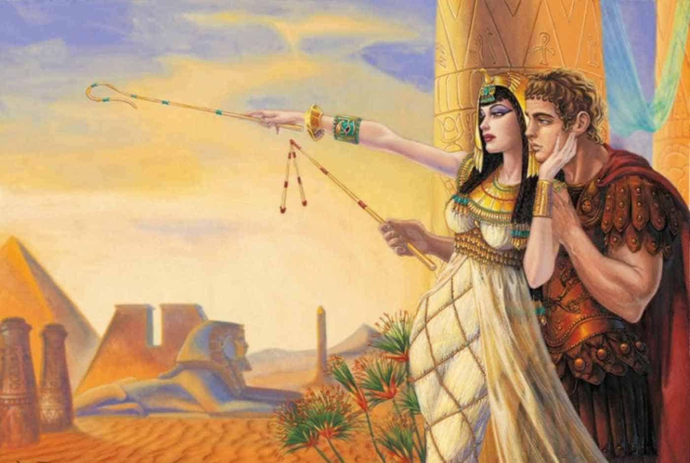 Еще одна картина Клеопатра и Антоний