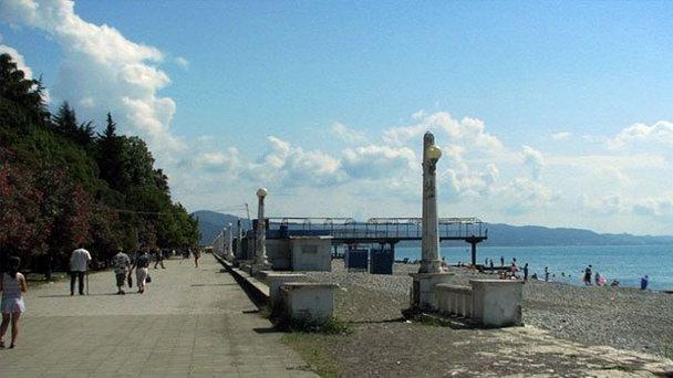 Набережная Диоскуров, Абхазия