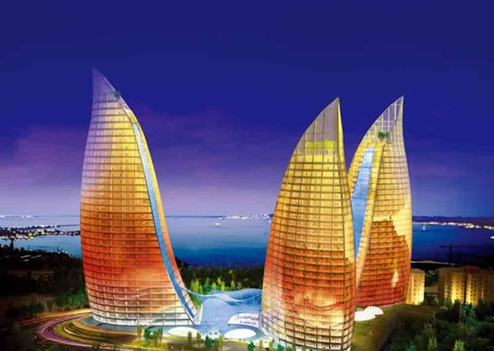 Пламенные башни в Баку, Азербайджан