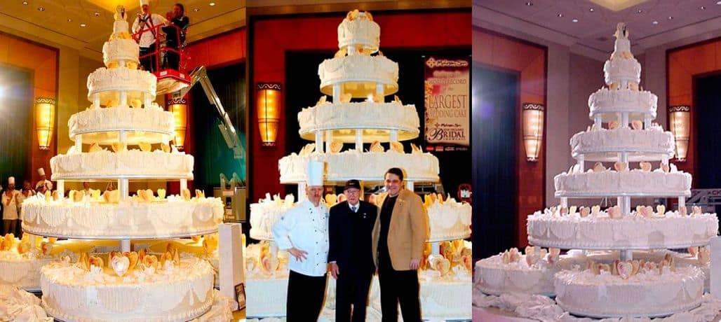 Самый большой свадебный торт