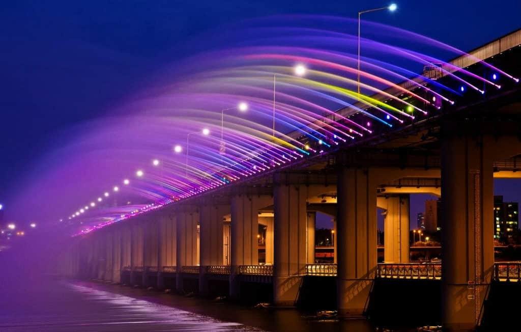 Мост Фонтан Радуги, Сеул