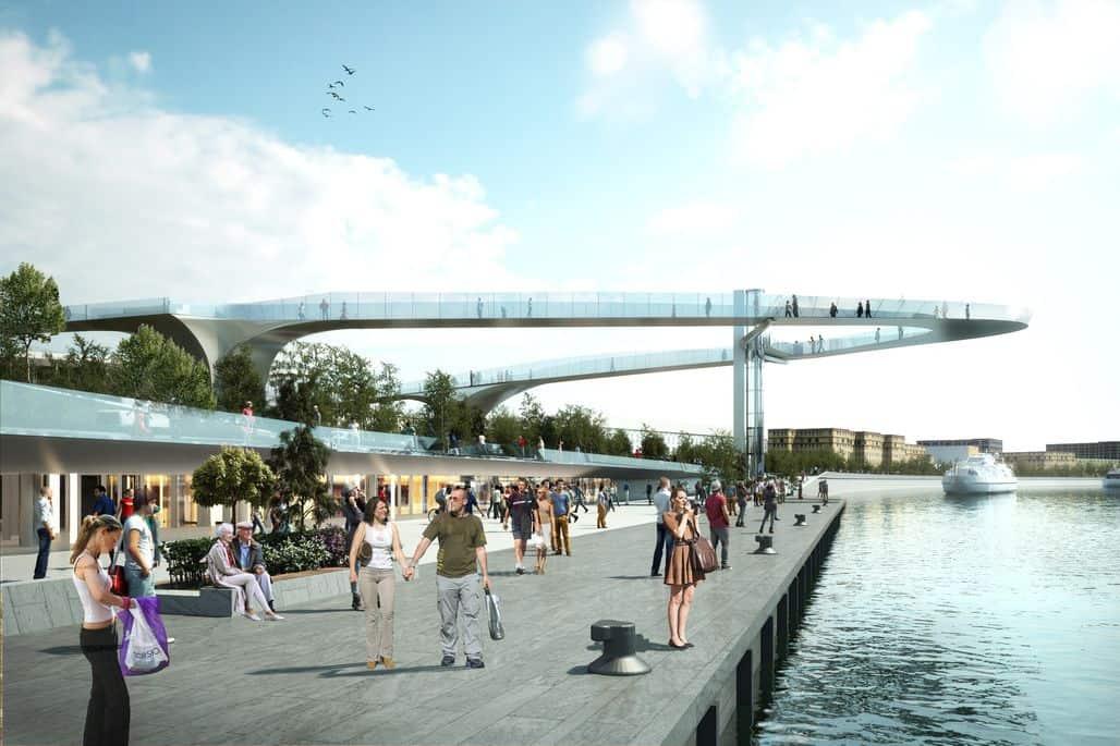 Парящий мост в парке Зарядье