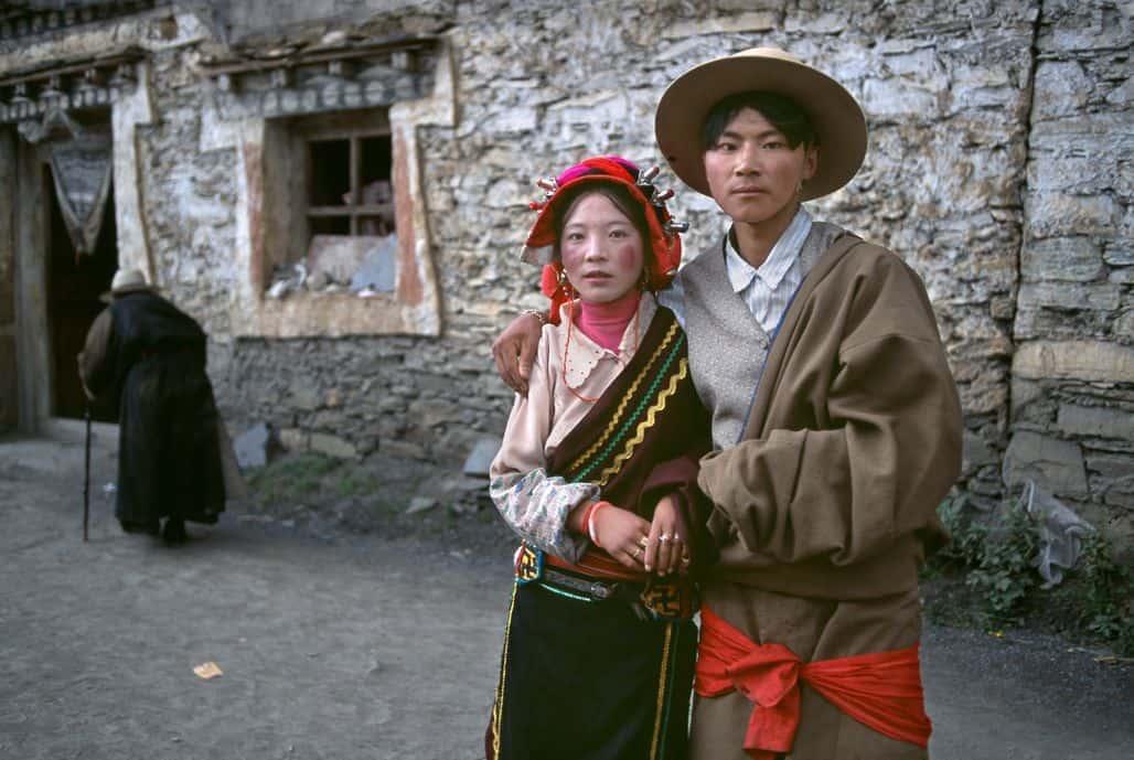 Семья из Тибета
