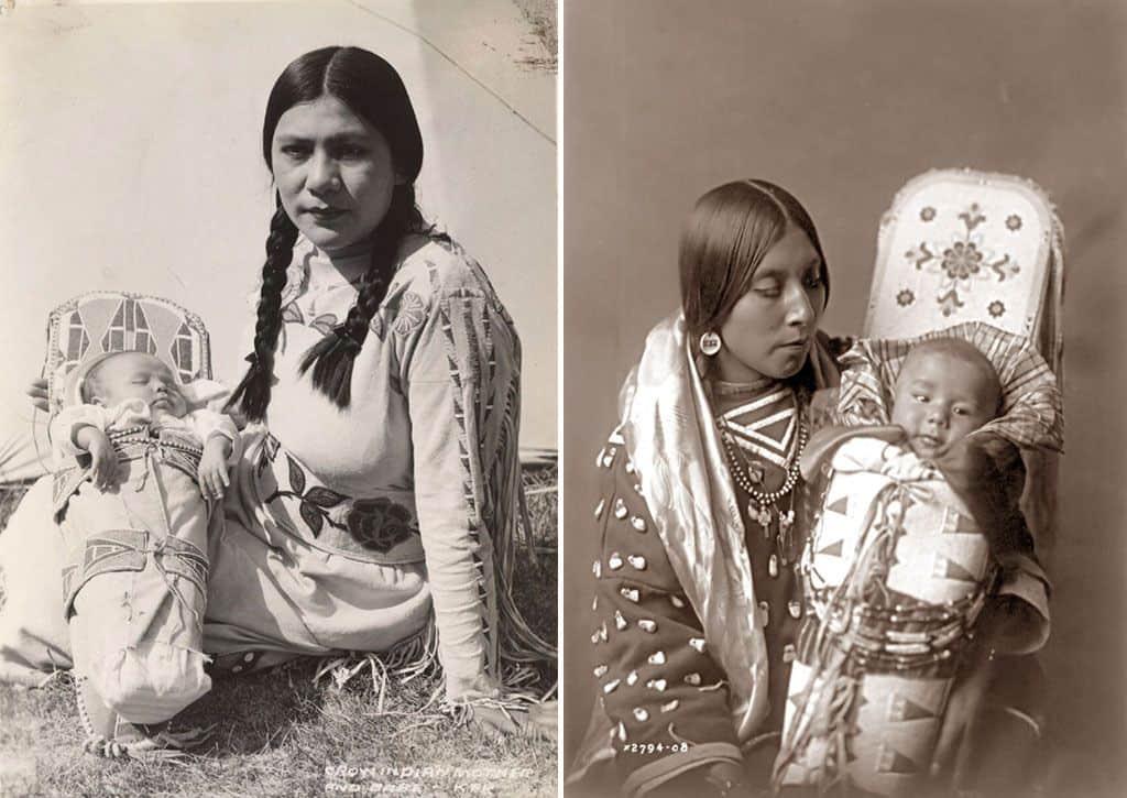 Индейские женщины с младенцами