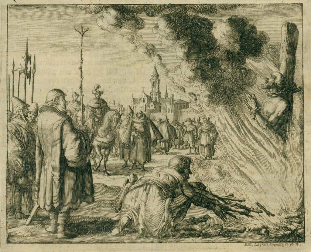 Иллюстрация сожжения Джордано Бруно
