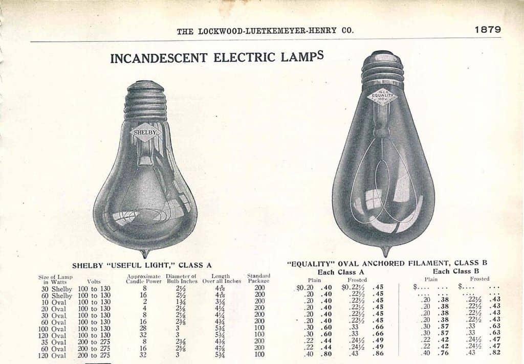 Лампа накаливания от Shelby Electric Company