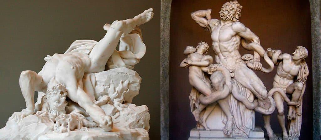 Древнегреческие скульптуры титанов