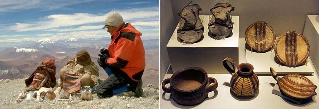 Предметы, найденные рядом с детскими мумиями
