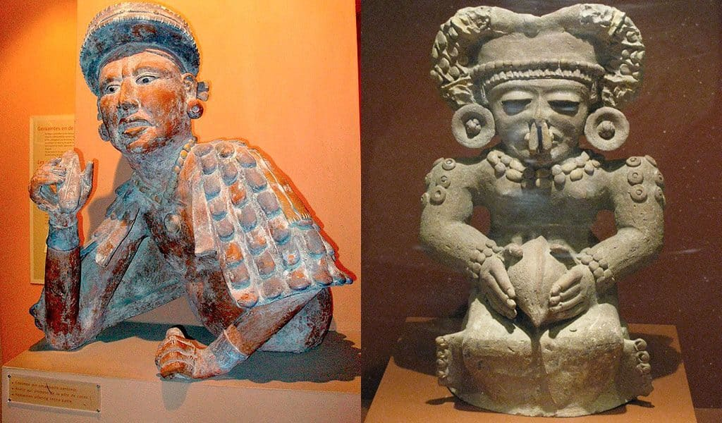 Скульптуры ацтеков и майя с какао бобами