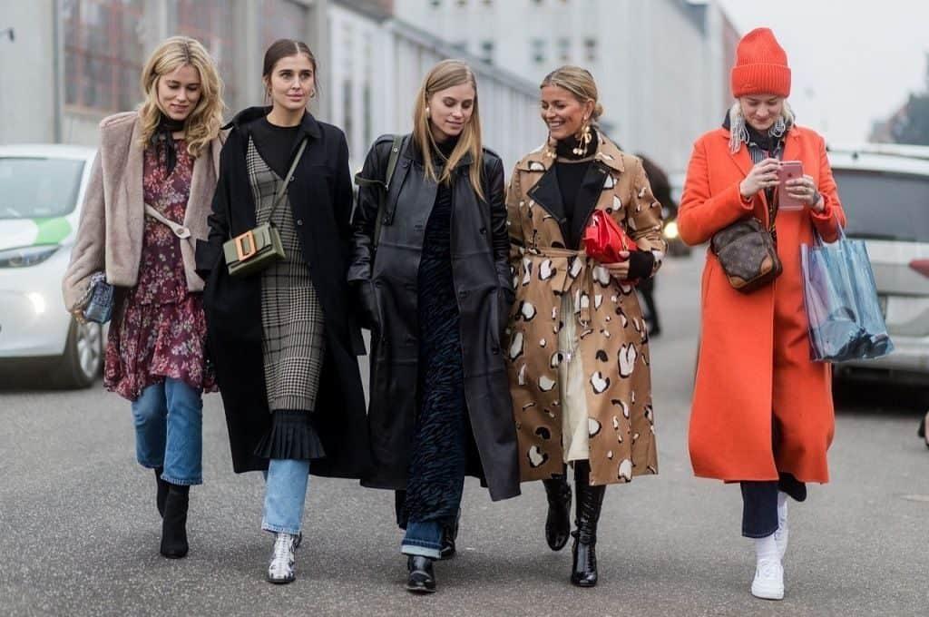 Многослойный стиль женской одежды датчанок