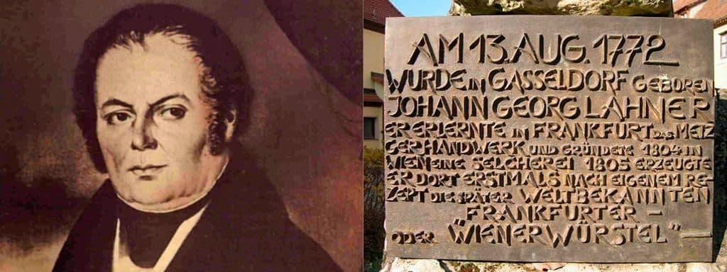 Бронзовая доска на памятнике Йохану Ланеру, установленном в Гассельдорфе