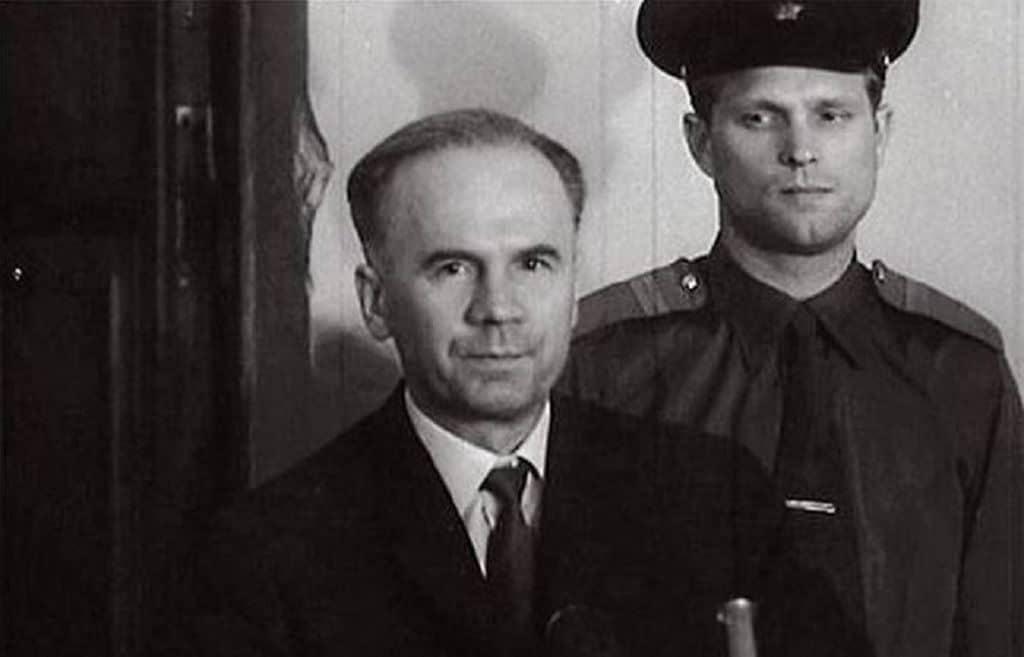 О.В. Пеньковский в зале суда