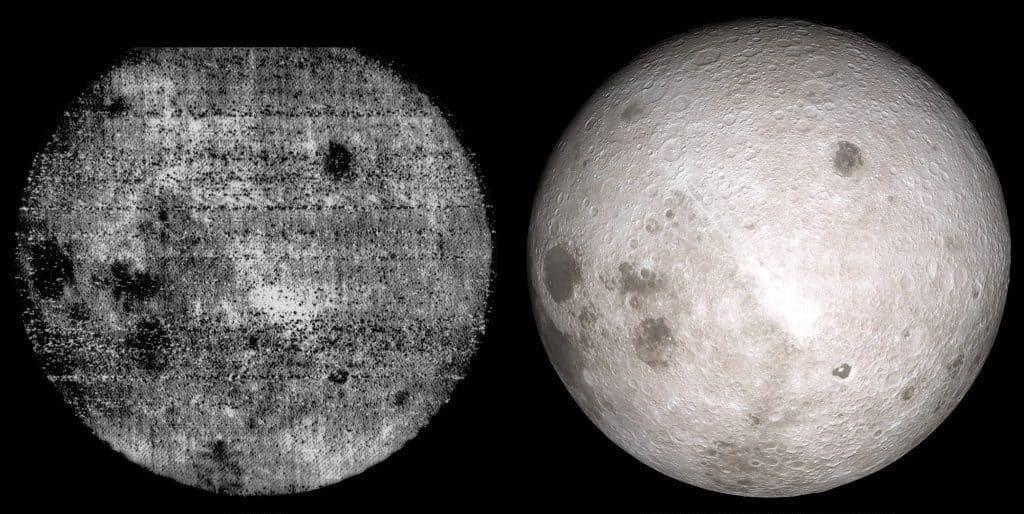 Первые снимки обратной стороны Луны