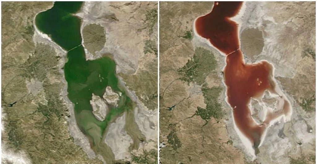 Кроваво-красный пруд (Иран) на карте гугл