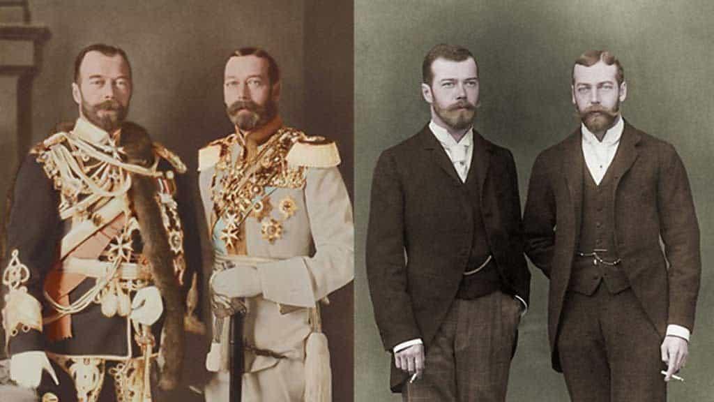 Король Георг 5 и император Николай 2