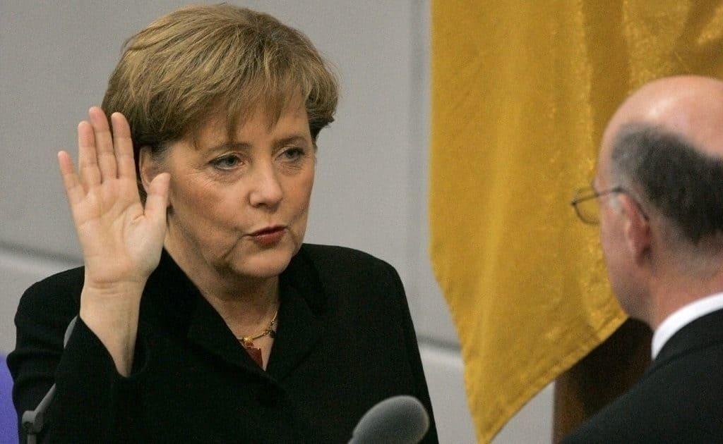 Ангела Меркель в Бундестаге XVI созыва