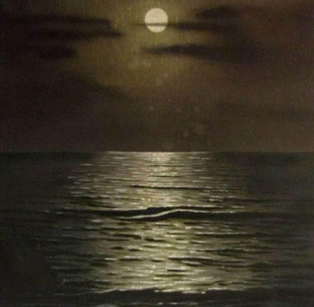 """Картина""""Ночное море""""(автор А.Гитлер)"""