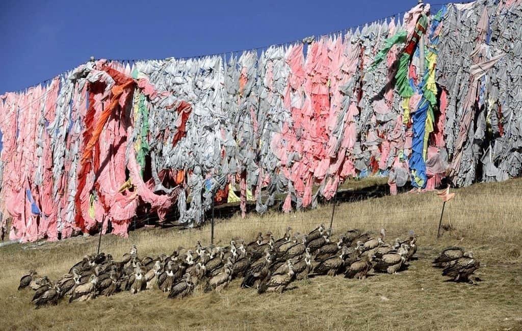 Небесные захоронения на Тибете