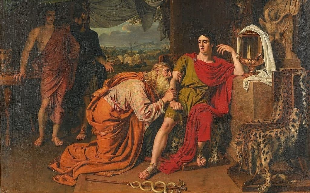 Приам и прорицатель Эсак