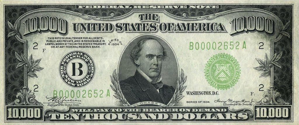 Самая крупная купюра доллара