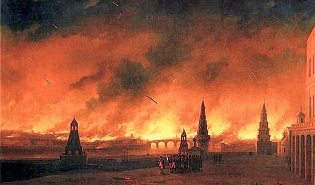 Сожженная Москва 1812 г.