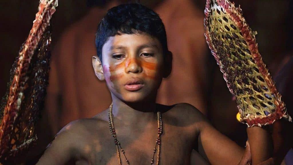 Посвящение муравьями народа Сатере-Маве