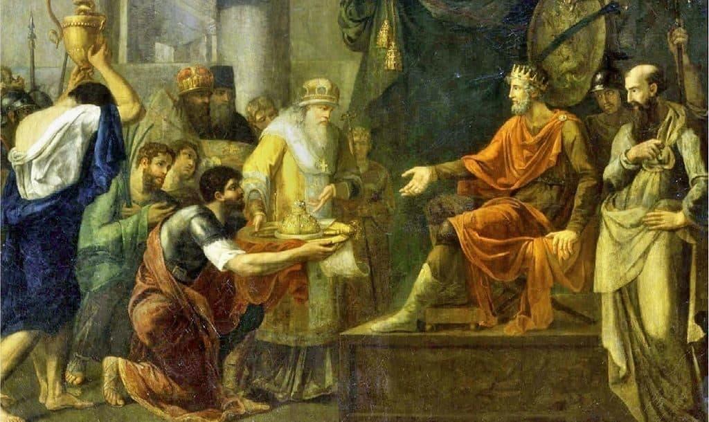Византийские послы с дарами