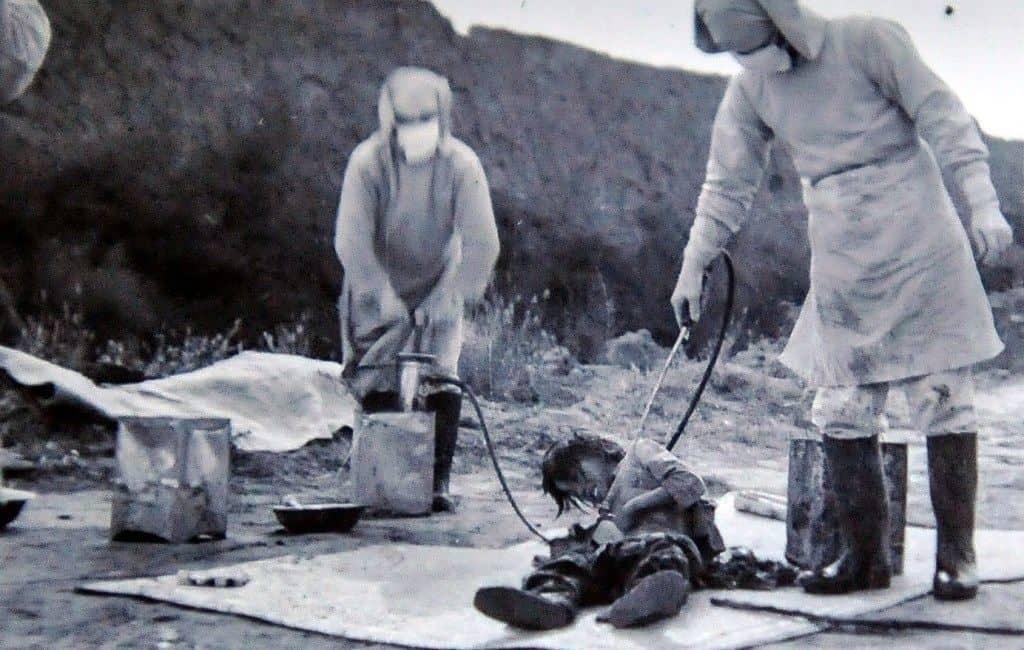Эксперименты по обморожению частей тела в японском лагере смерти