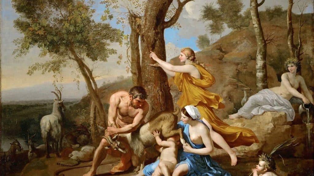Коза Амалфея вскармливает Зевса