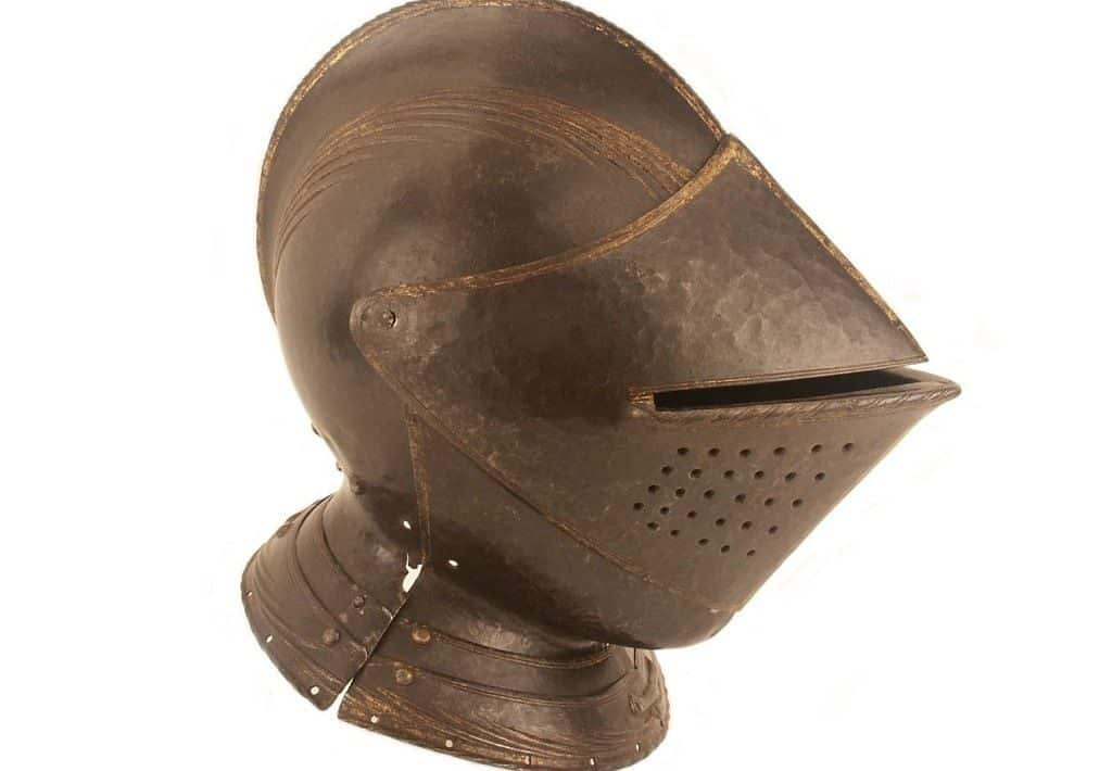 Кавалерийский рыцарский шлем армет