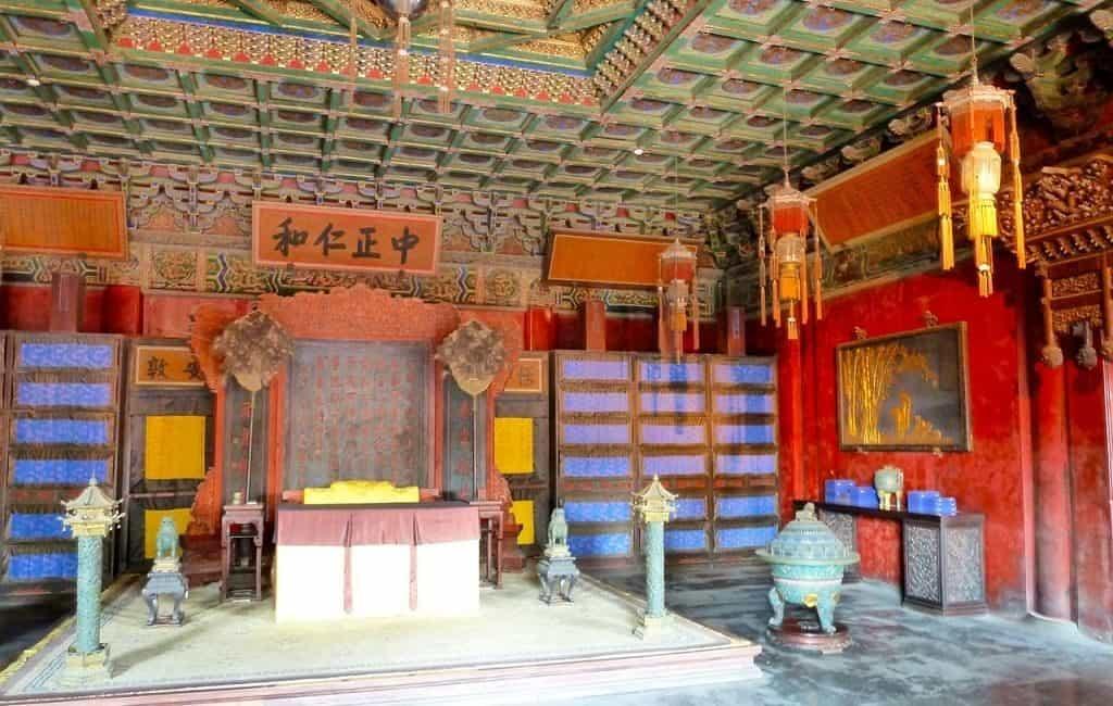 Внутренние покои в запретном городе Пекина