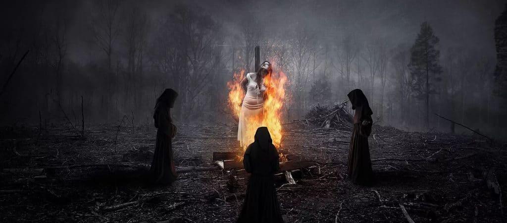 Сожжение ведьмы на костре