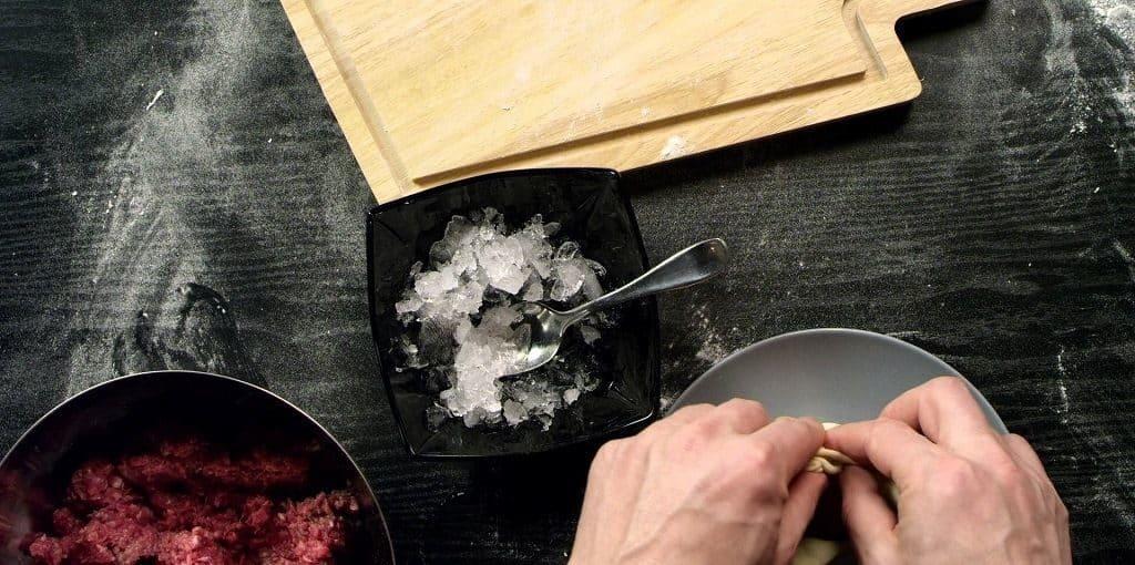 Пельмени по-сибирски со льдом
