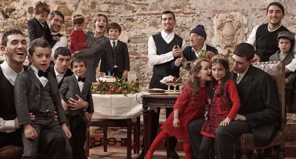 Большая итальянская семья