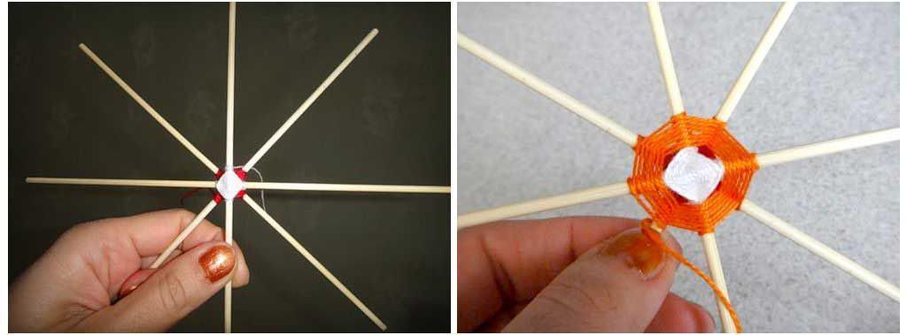 Изделие приобретает восьмиугольную форму