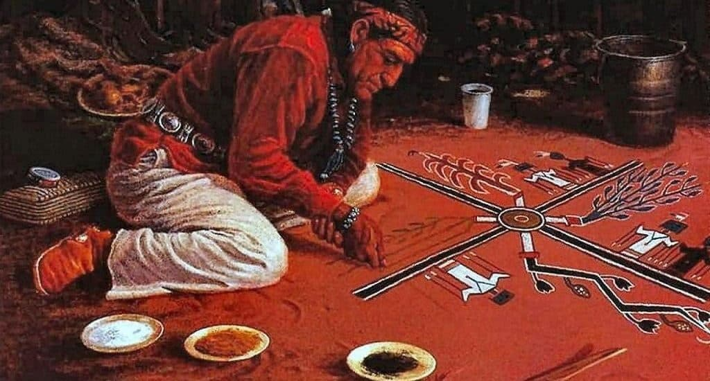 Мандала индейцев племени Навахо
