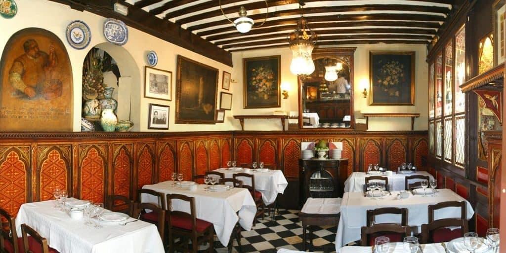Внутреннее убранство ресторана «Sobrino de Botin»