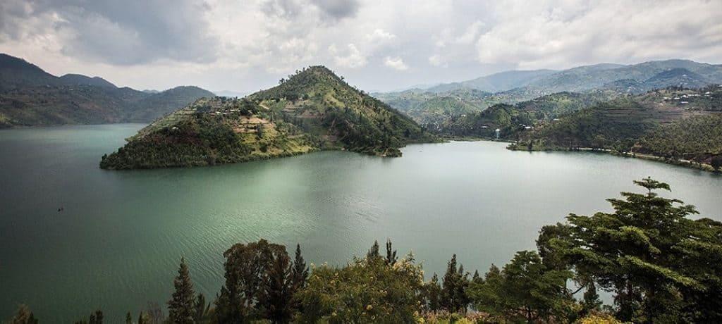 Озеро Киву в Центральной Африке